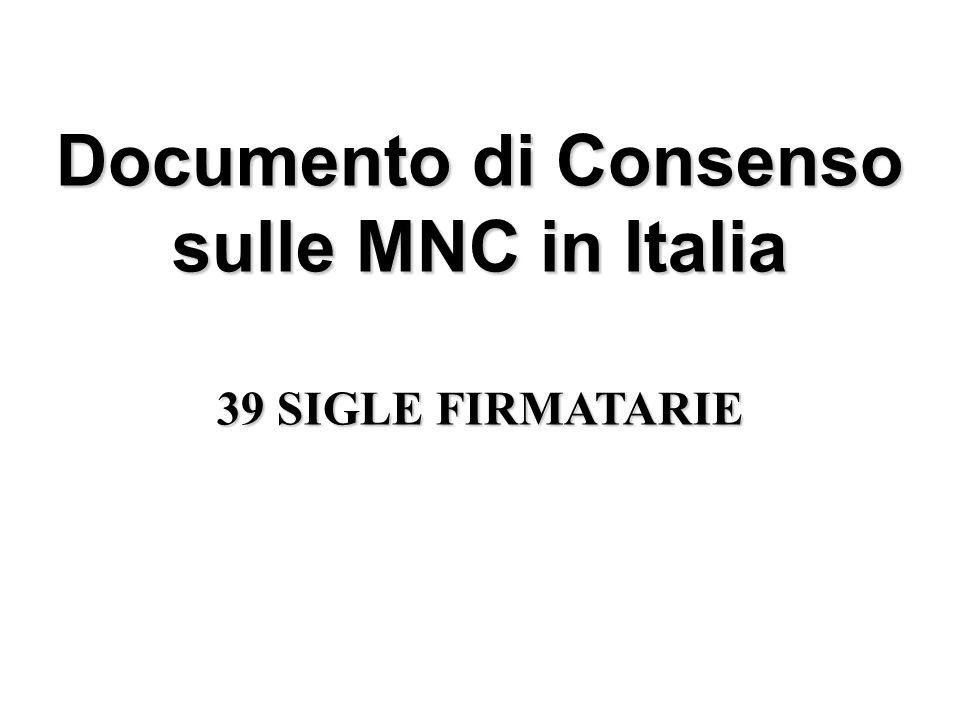 Documento di Consenso sulle MNC in Italia