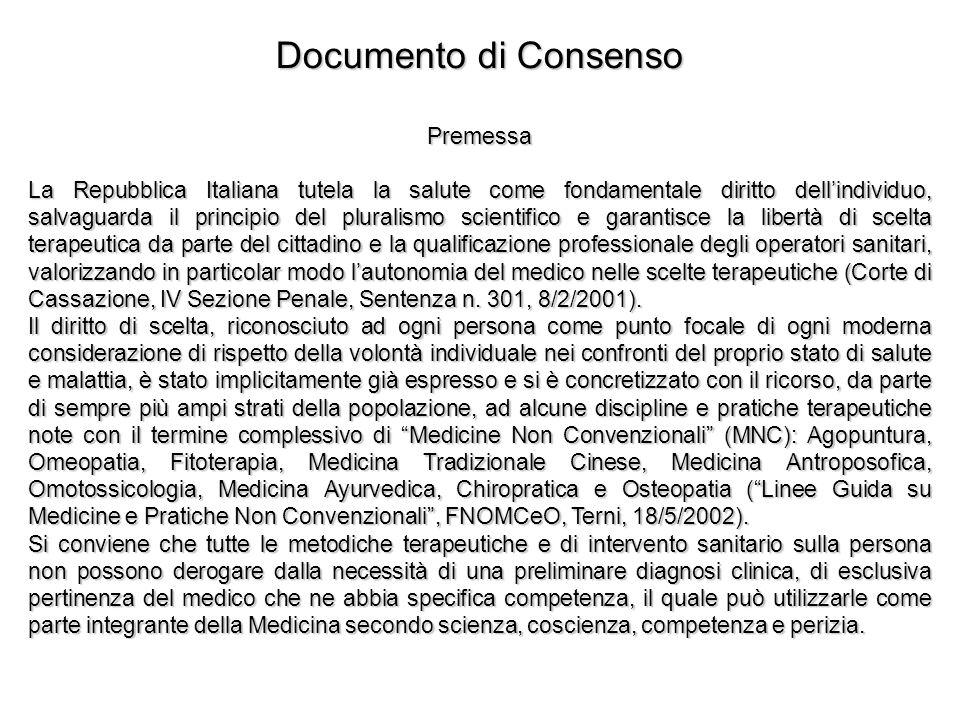 Documento di Consenso Premessa