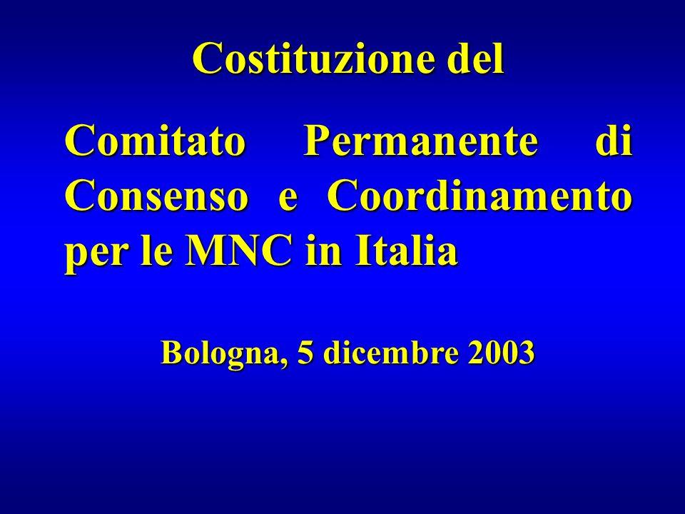 Comitato Permanente di Consenso e Coordinamento per le MNC in Italia