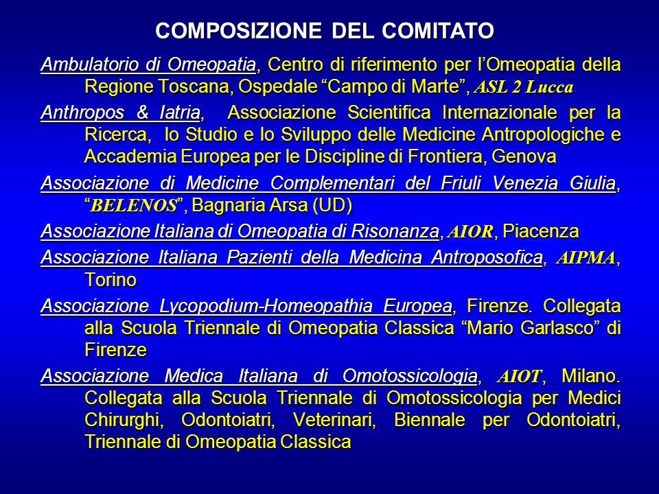 COMPOSIZIONE DEL COMITATO