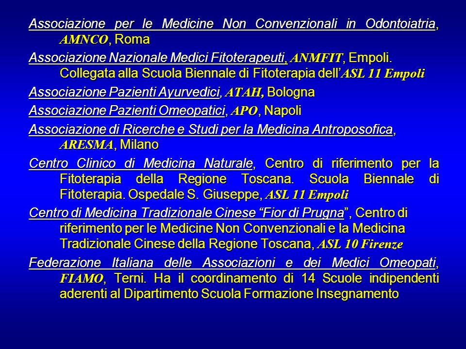 Associazione per le Medicine Non Convenzionali in Odontoiatria, AMNCO, Roma
