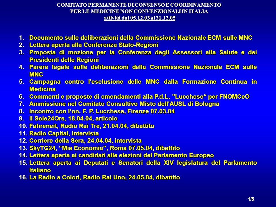 Lettera aperta alla Conferenza Stato-Regioni