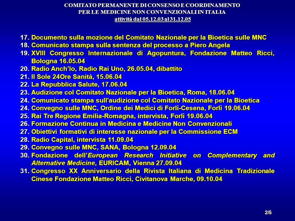 Comunicato stampa sulla sentenza del processo a Piero Angela