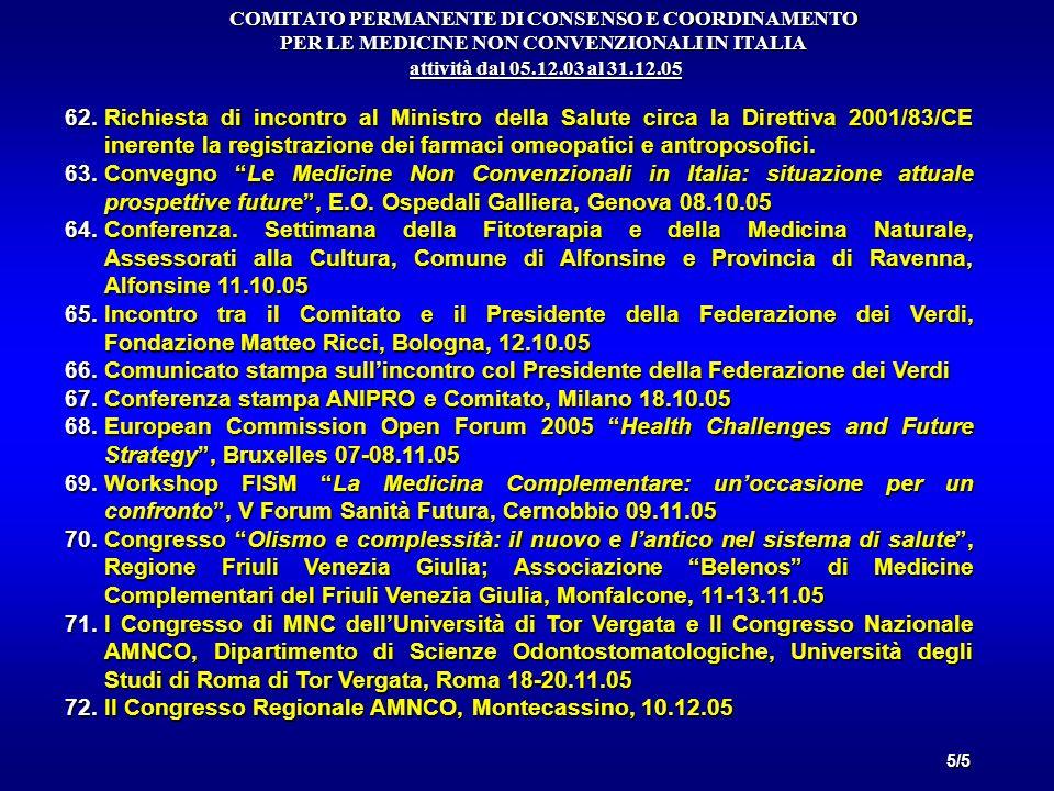 Conferenza stampa ANIPRO e Comitato, Milano 18.10.05