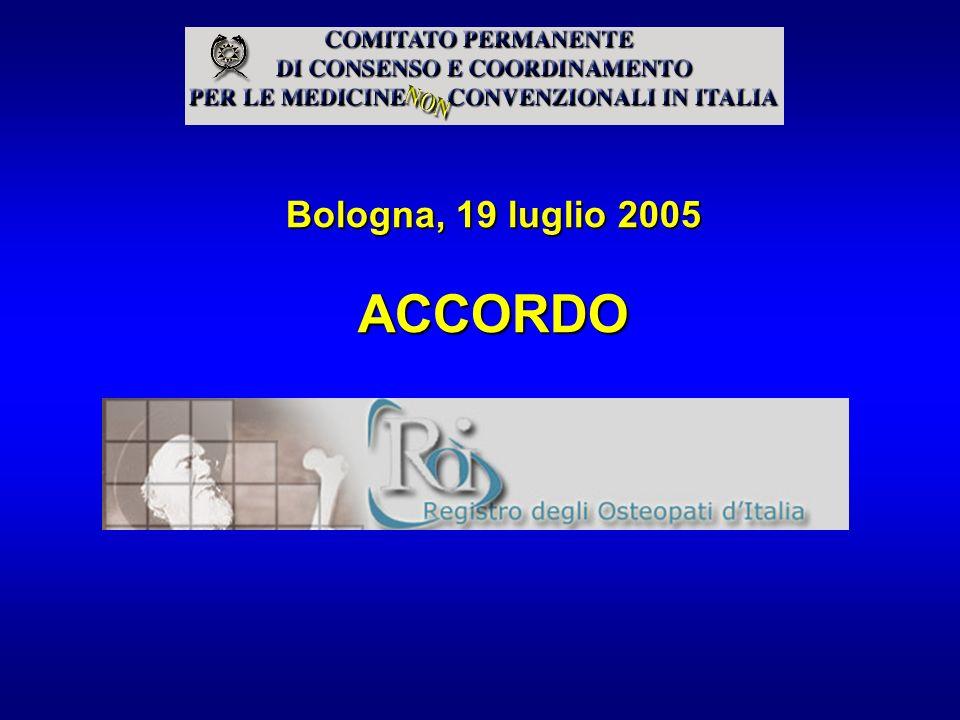 Bologna, 19 luglio 2005 ACCORDO