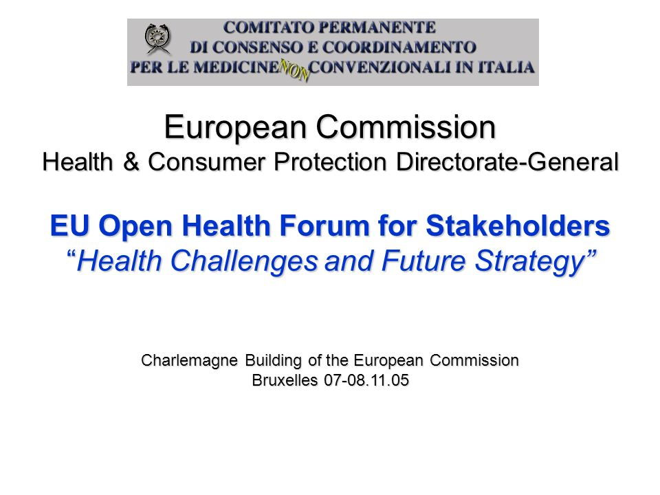 EU Open Health Forum for Stakeholders