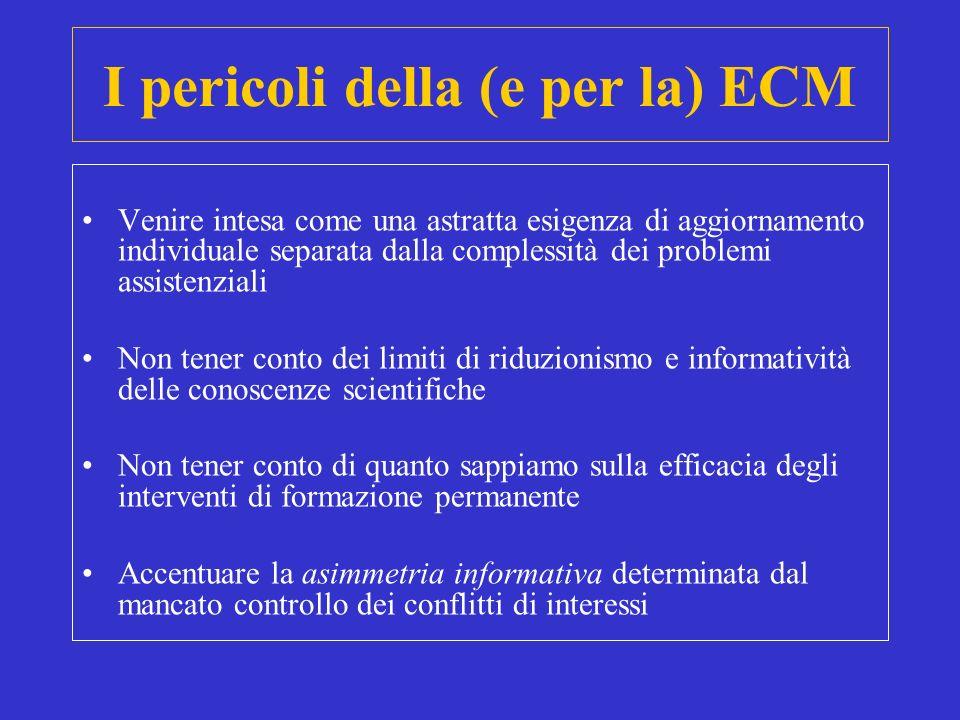 I pericoli della (e per la) ECM