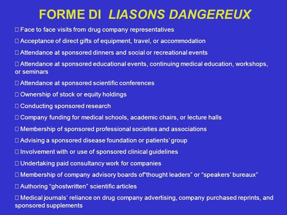 FORME DI LIASONS DANGEREUX