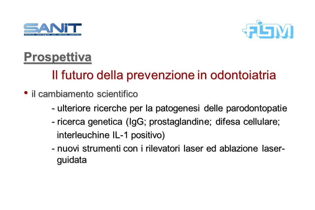 Il futuro della prevenzione in odontoiatria il cambiamento scientifico