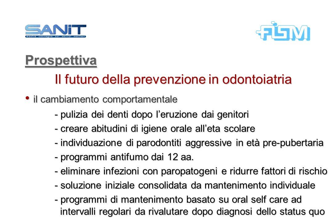 Il futuro della prevenzione in odontoiatria