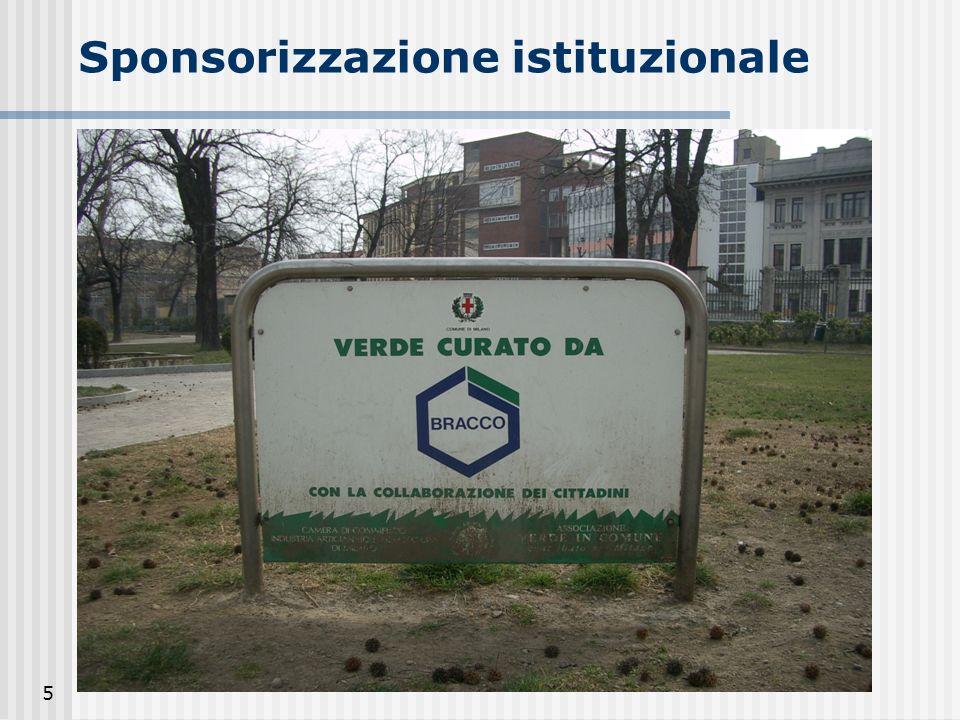 Sponsorizzazione istituzionale