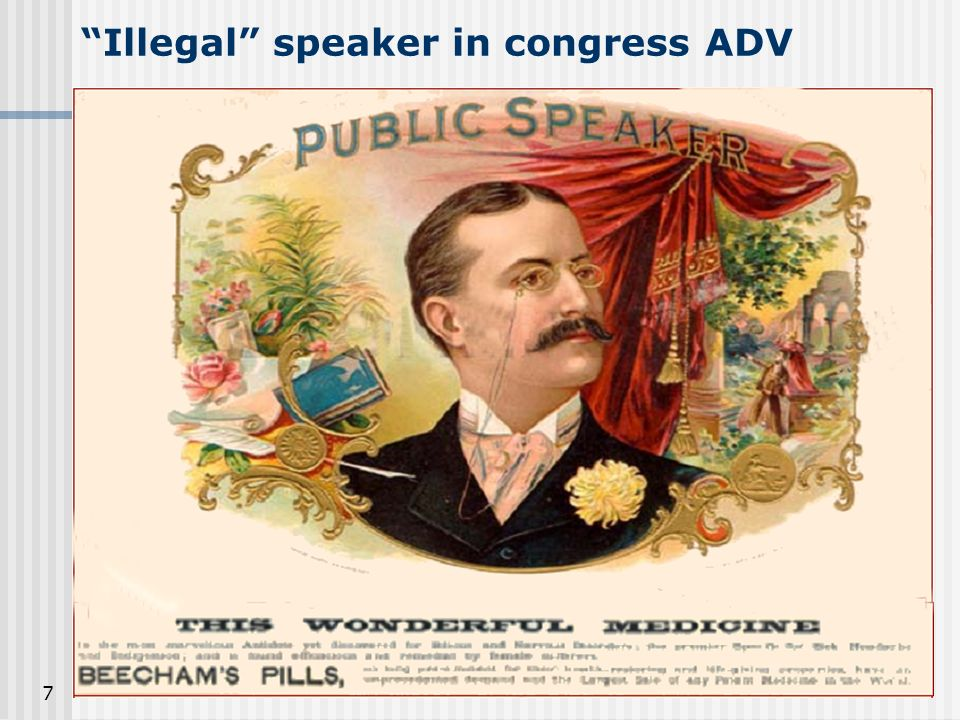 Illegal speaker in congress ADV