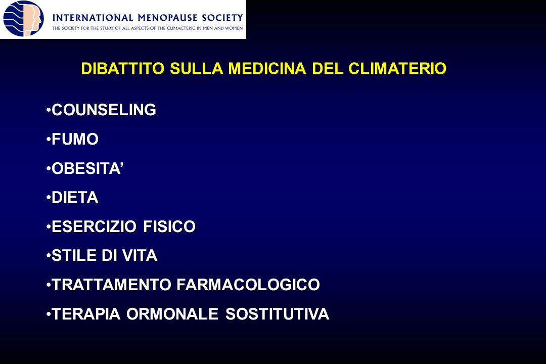 DIBATTITO SULLA MEDICINA DEL CLIMATERIO