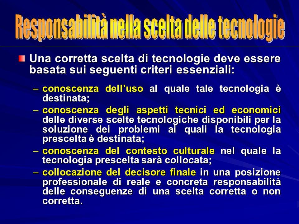 Responsabilità nella scelta delle tecnologie