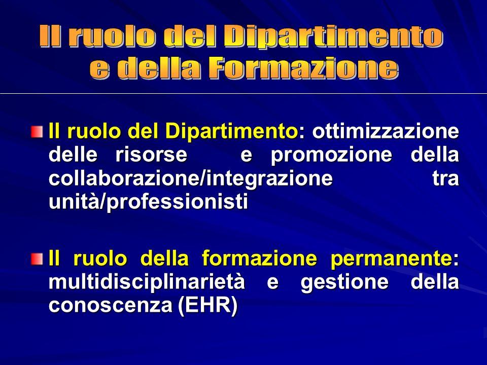 Il ruolo del Dipartimento
