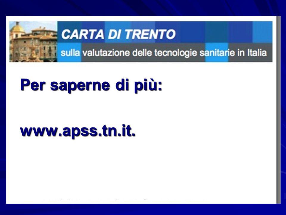 Per saperne di più: www.apss.tn.it.