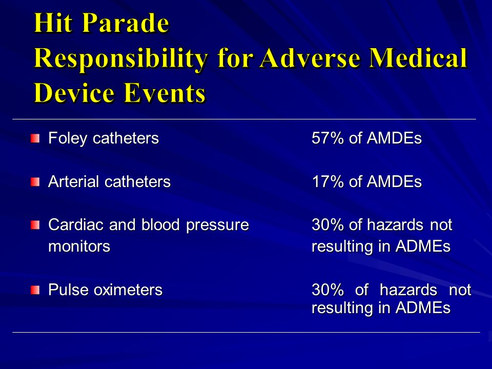 Responsibility for Adverse Medical Device Events