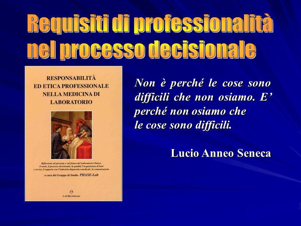 Requisiti di professionalità nel processo decisionale