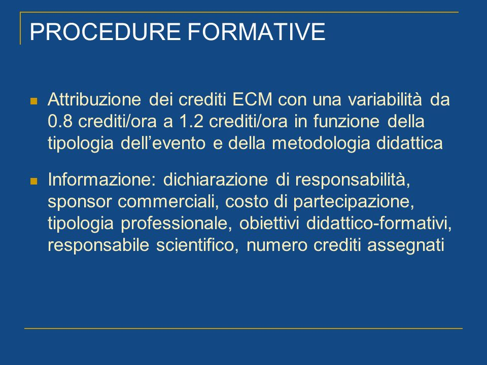 PROCEDURE FORMATIVE