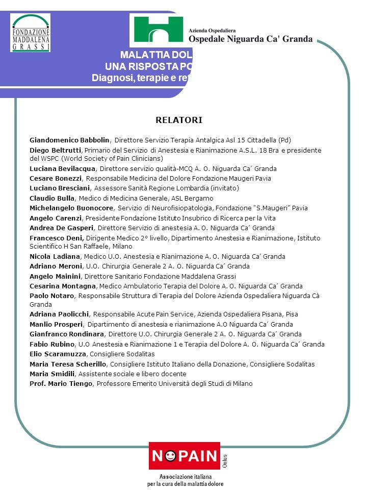 Associazione italiana per la cura della malattia dolore