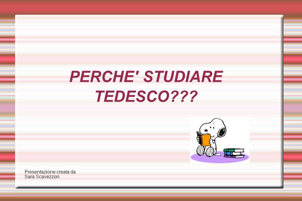 PERCHE STUDIARE TEDESCO