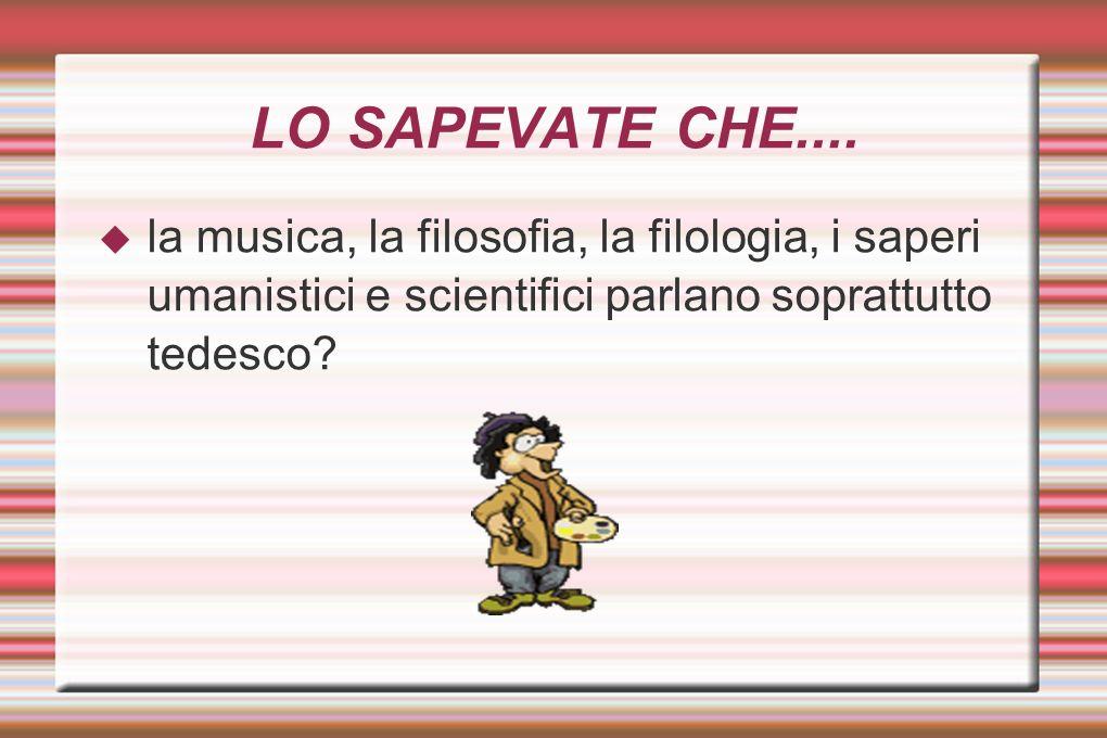 LO SAPEVATE CHE....