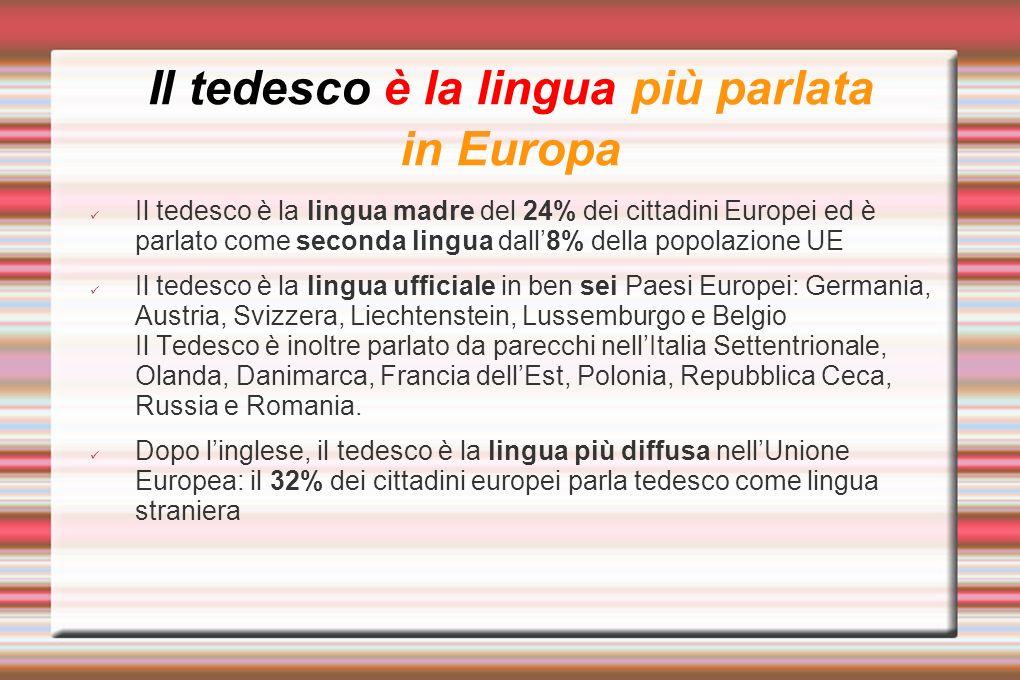 Il tedesco è la lingua più parlata in Europa