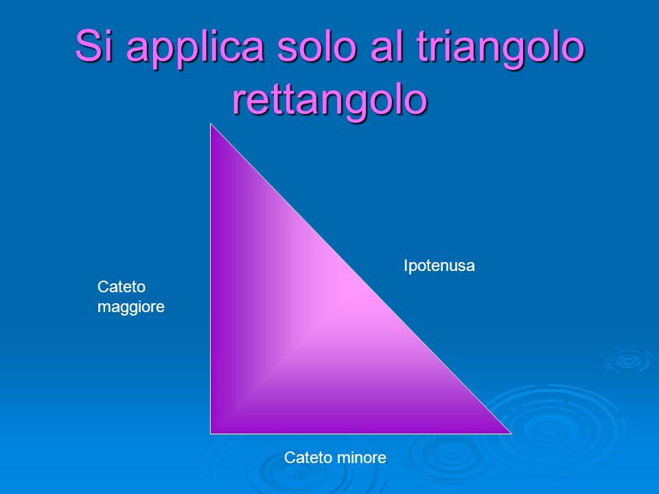Si applica solo al triangolo rettangolo