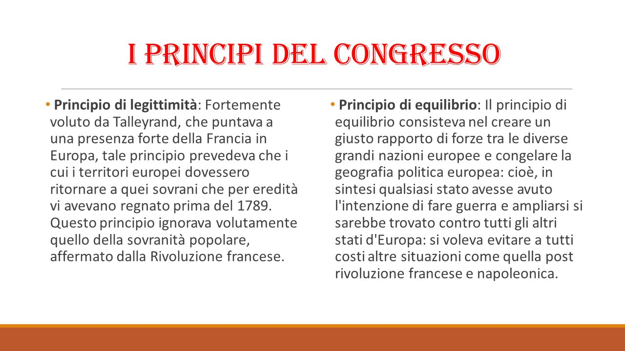 I principi del Congresso