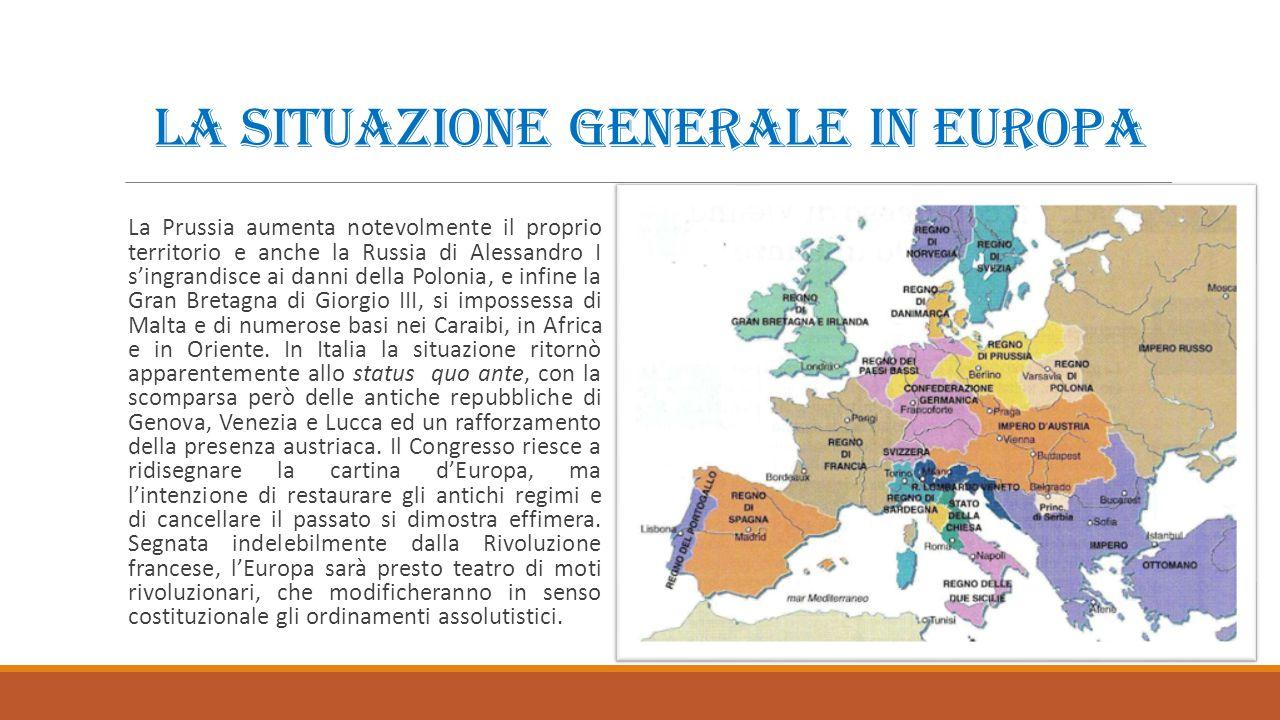 La situazione generale in Europa