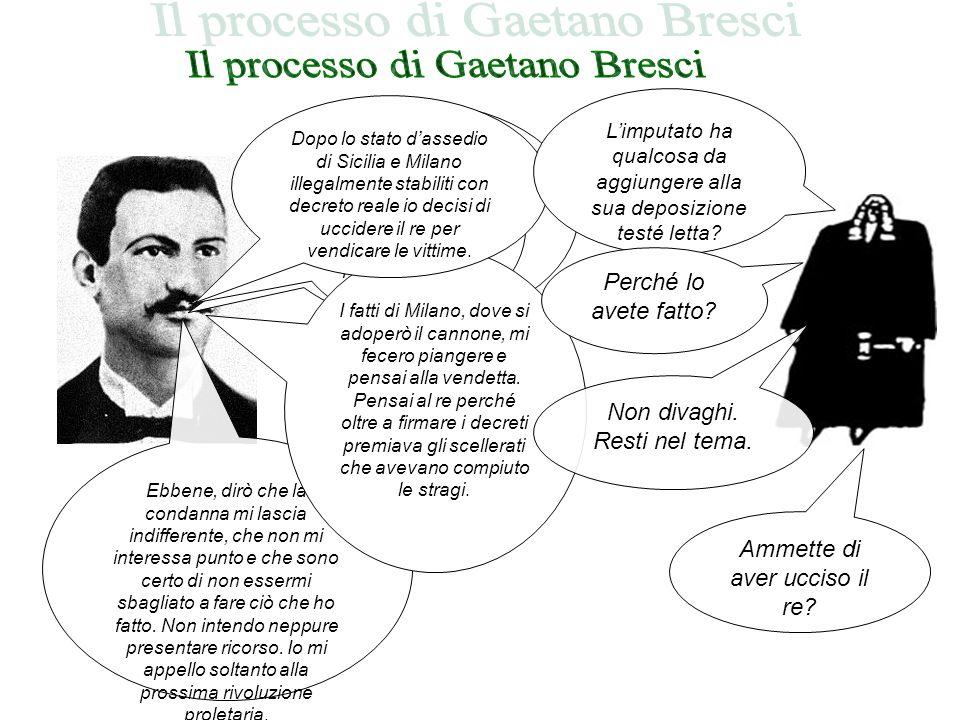 Il processo di Gaetano Bresci