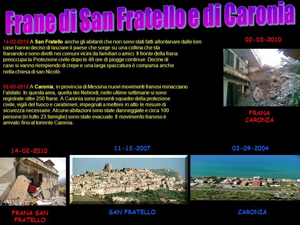 Frane di San Fratello e di Caronia