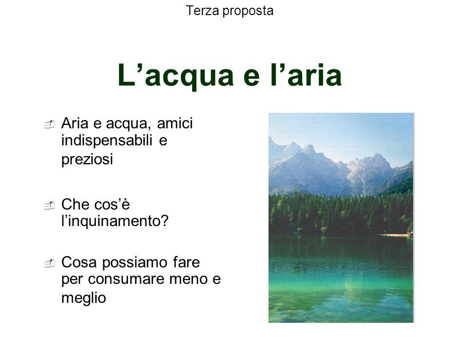 Terza proposta L'acqua e l'aria