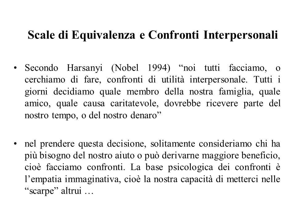 Scale di Equivalenza e Confronti Interpersonali
