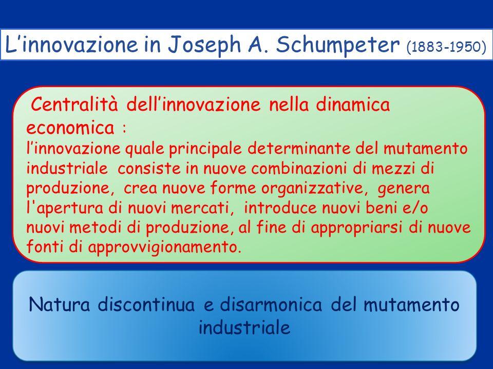 Natura discontinua e disarmonica del mutamento industriale