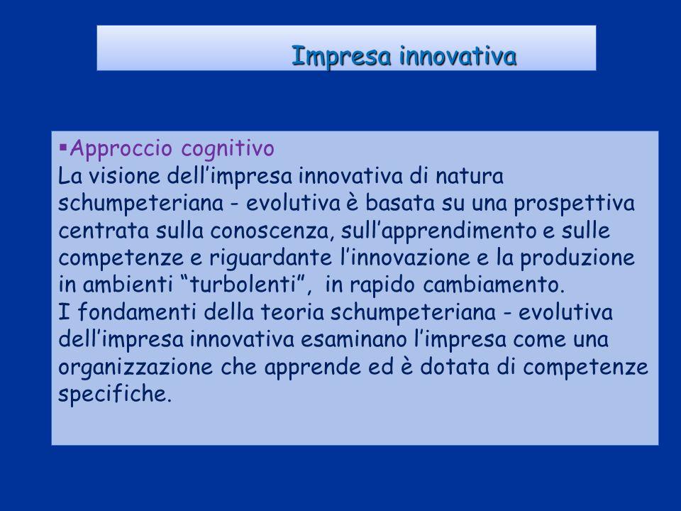 Impresa innovativa Approccio cognitivo