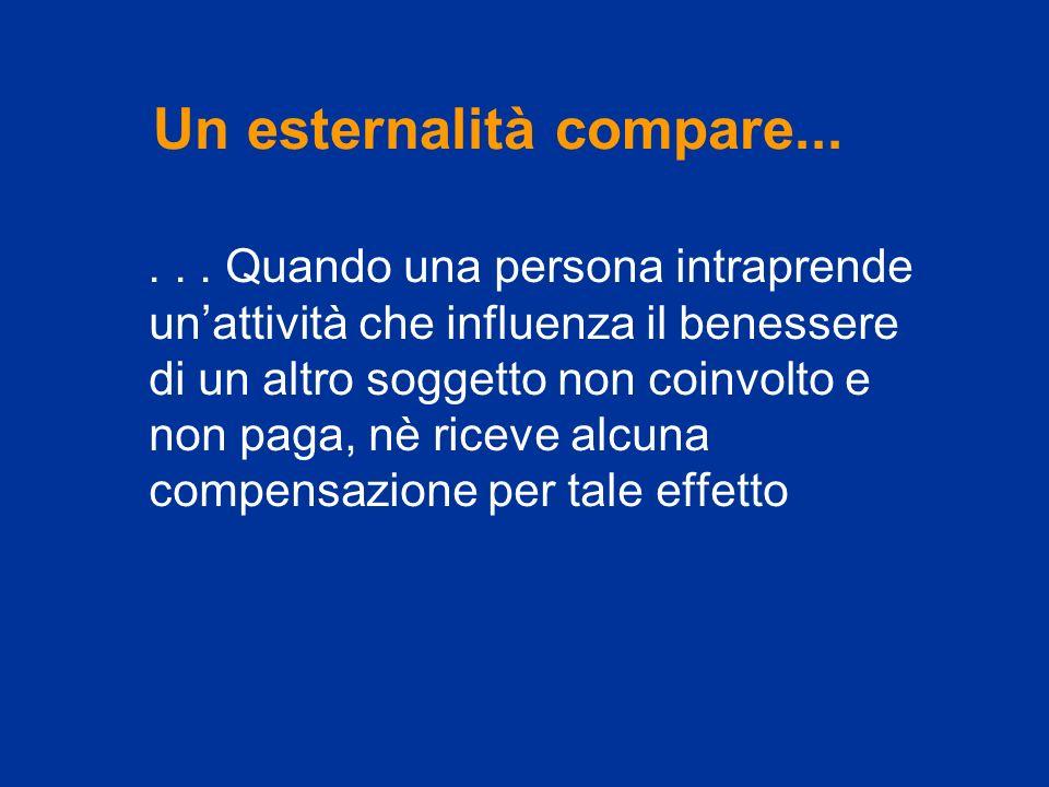 Un esternalità compare...