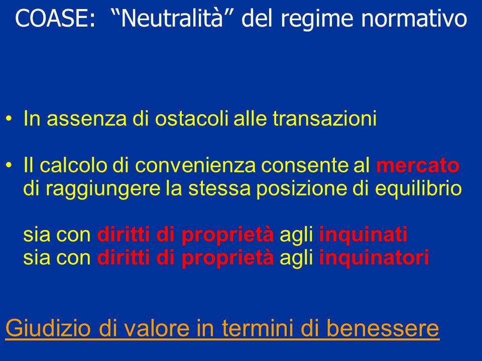 COASE: Neutralità del regime normativo