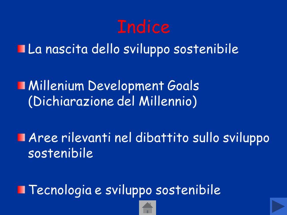 Indice La nascita dello sviluppo sostenibile