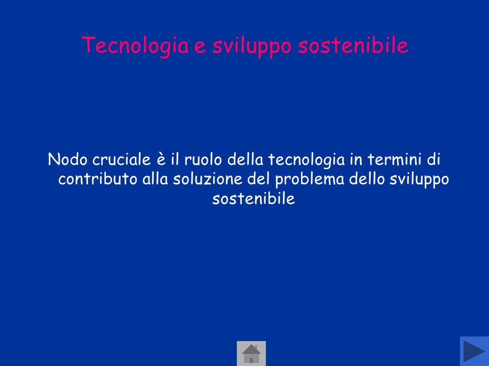 Tecnologia e sviluppo sostenibile