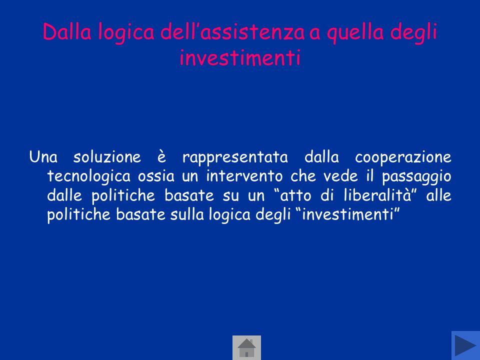 Dalla logica dell'assistenza a quella degli investimenti