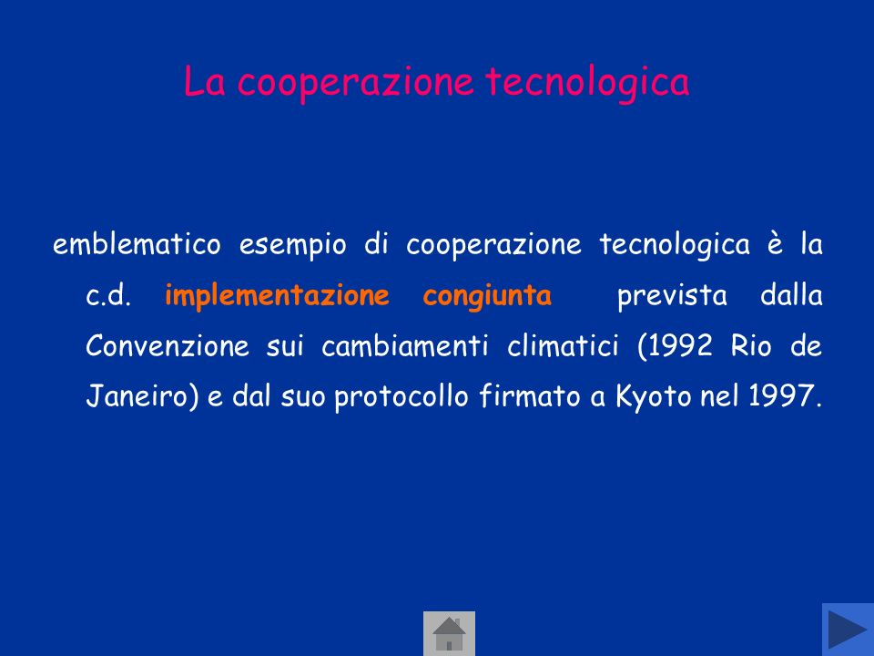 La cooperazione tecnologica