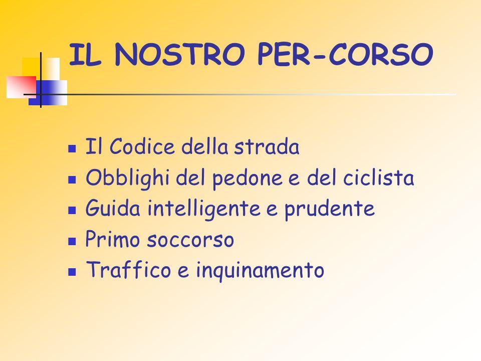 IL NOSTRO PER-CORSO Il Codice della strada