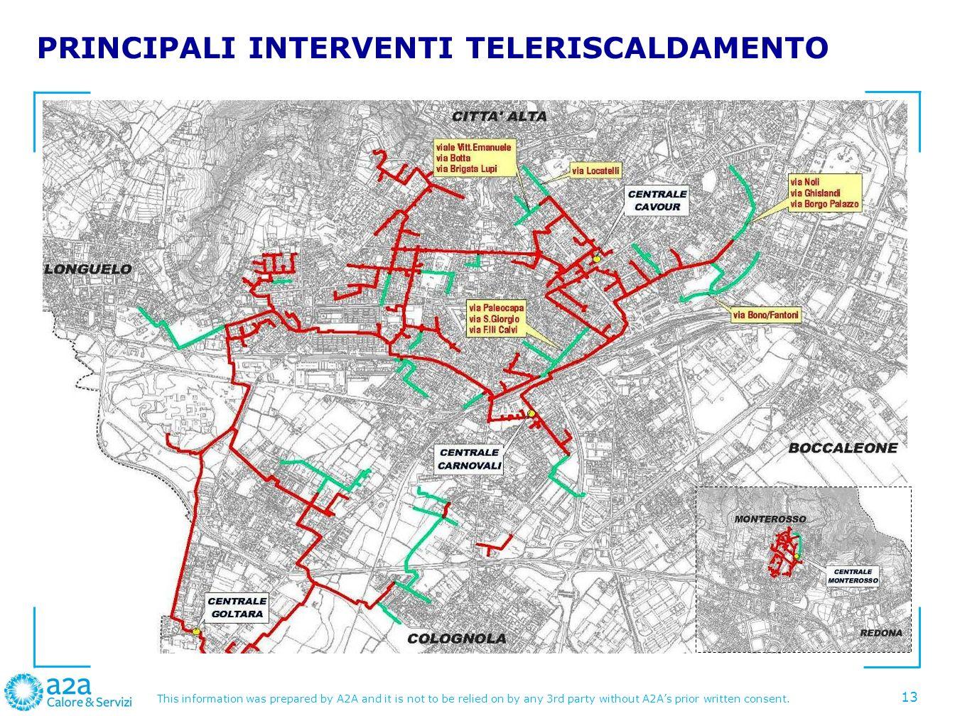 PRINCIPALI INTERVENTI TELERISCALDAMENTO