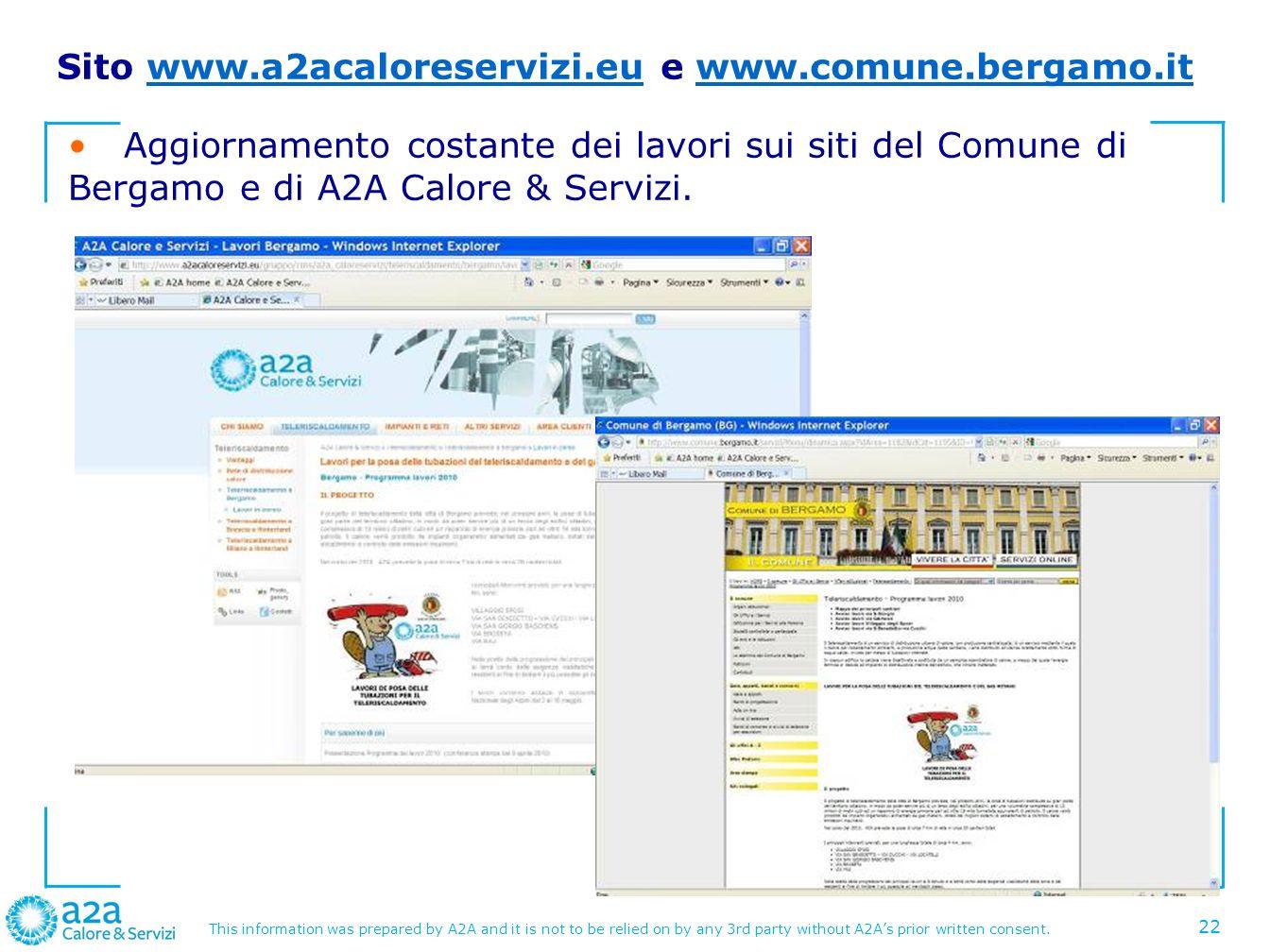 Sito www.a2acaloreservizi.eu e www.comune.bergamo.it