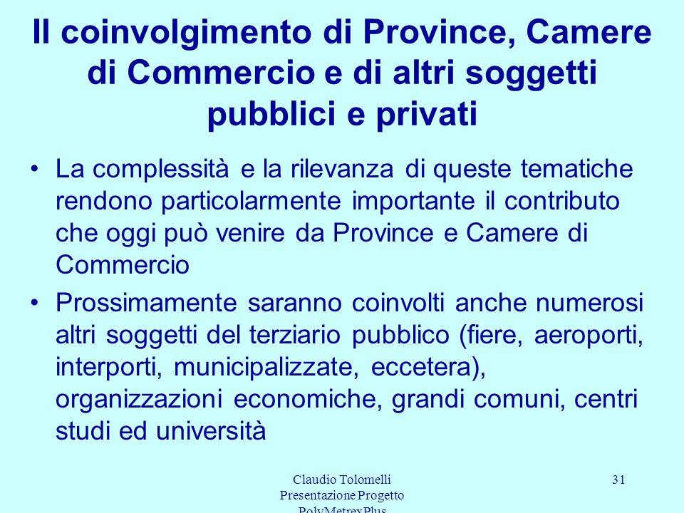 Claudio Tolomelli Presentazione Progetto PolyMetrexPlus