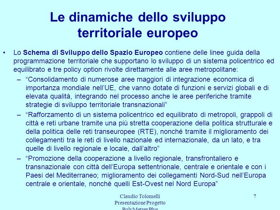 Le dinamiche dello sviluppo territoriale europeo