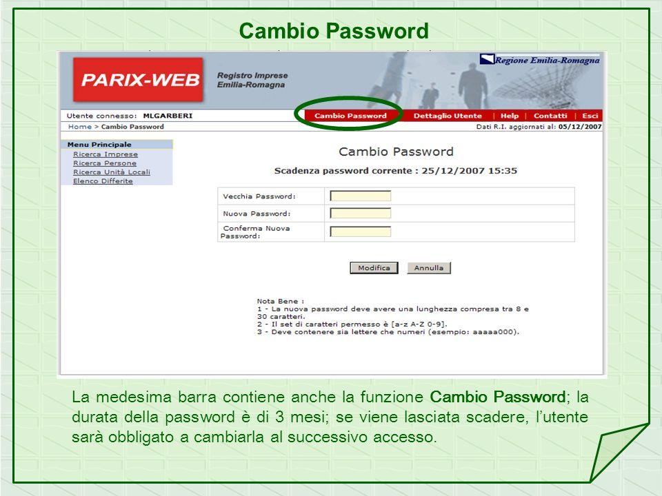 Cambio Password