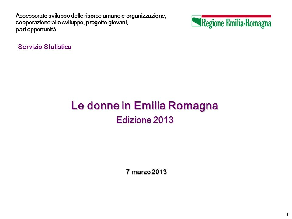 Le donne in Emilia Romagna