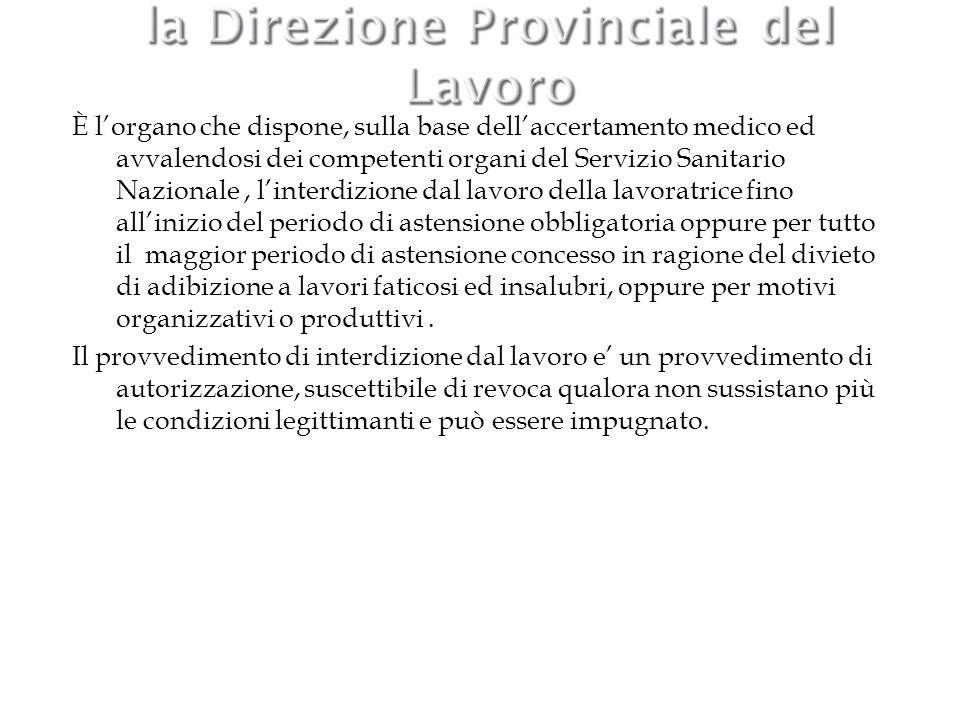 la Direzione Provinciale del Lavoro